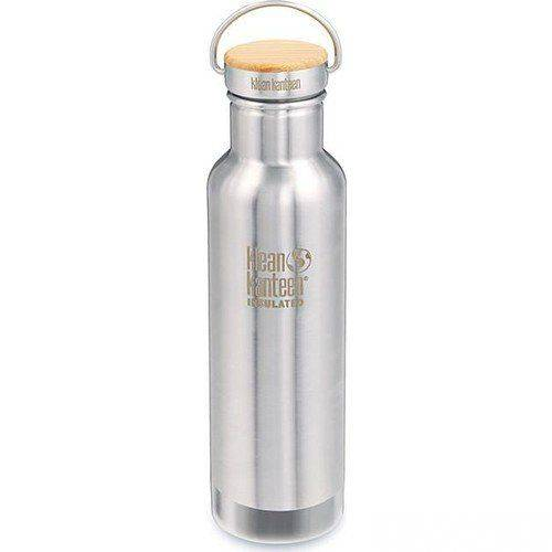 Klean Kanteen Insulated Reflect 20 Oz Bamboo Brushed Staninless 401250584