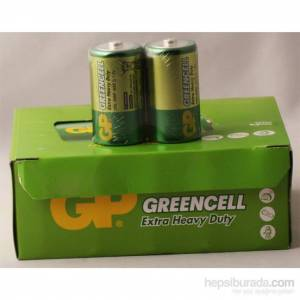 GREENCELL GP13G-2S2 R20 ÇİNKO KALIN PİL 20Lİ