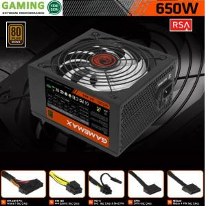 GAMEMAX GP-650 650W 80 Plus Bronze 14CM Fanlı Sertifikalı Power Supply PC Güç Kaynağı PSU