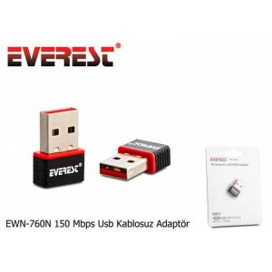 Everest EWN-760N WiFi-N 150Mbps Mini USB Adaptör