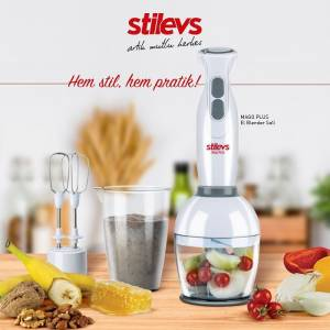 STİLEVS MAGO PLUS BEYAZ BLENDER SETİ