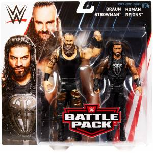 WWE SERiES BATTLE PACKS BRAUN STROWMAN - ROMAN REiGNS 7 INCH ACTION FIGURE SETİ