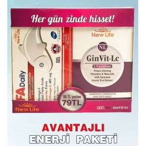 NewLife Gin Vit-Lc 30 Tablet  EFA Daily 30 Yumuşak Kapsül New Life