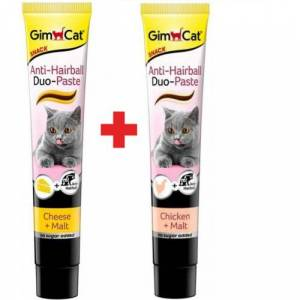 Gimcat Hairball Malt Cheese 50 Gr  Hairball Malt Chicken 50 Gr