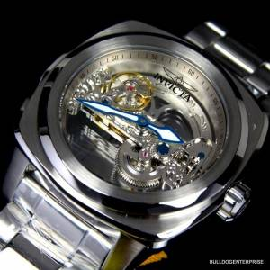 Invicta Aviator Ghost Bridge Automatic Skeleton Silver Steel 48mm
