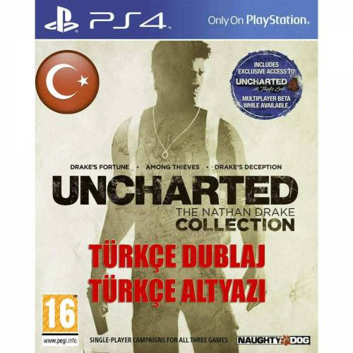 UNCHARTED THE NATHAN DRAKE COLLECTION PS4 TÜRKÇE 3 FULL OYUN 409026004