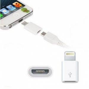 MICRO USB TO IPHONE ÇEVİRİCİ DÖNÜŞTÜRÜCÜ ADAPTÖR 8 PİN IPHONE 5 5S 6 6S 6 PLUS 6S PLUS 7 7 PLUS vs