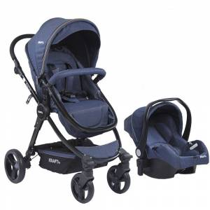 Kraft Oslo Travel Sistem Bebek Arabası  Blue Denim