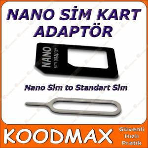 iPhone 5 5S 5C 6 Plus Nano Sim Kart Adaptör