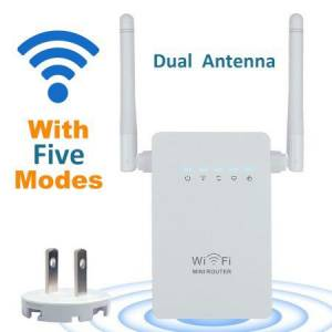 300Mbps ÇİFT ANTENLİ ACCESS POINT amp REPEATER ALAN GENİŞLETİCİ