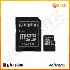 Kingston 16GB Micro SD Hafıza Kartı Class10 U1 80MBs SDCS16GB