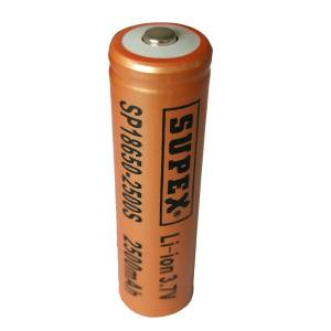 Supex SP-18650-2500 3.7V 2500mAH Li-ion Pil