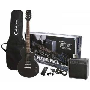 Epiphone Les Paul Player Pack Black Elektro Gitar seti