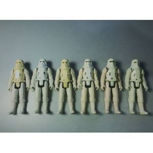 6 adet Lot 1983 Vintage Star Wars Hoth Snowtroopers Kenner Stormtroopers Action Figür
