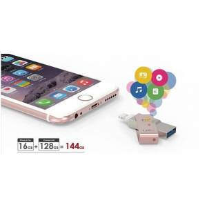 PQI iConnect 64GB mini USB 3.0 iPhone/iPad/iPod USB Bellek