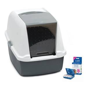 Catit Magic Blue Litter Box Regular Kapalı Kedi Tuvaleti