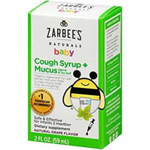 ZarBees Naturals Baby Cough Syrub + Mucus Reducer Grape 59ml