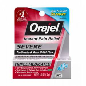 Orajel Instant Pain Relief Severe Fast-Acting GEL