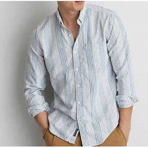 American Eagle Stripe Button-Down GOMLEK M
