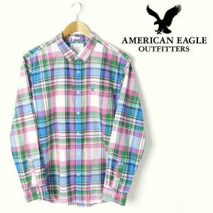 American Eagle Plaid Button-Down GOMLEK L8321