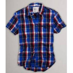 American Eagle Plaid Button-Down GOMLEK S2152