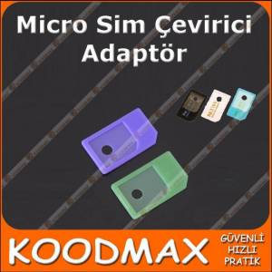 iPhone iPad Mikro Sim Kart Adaptörü Plastik 2 ad