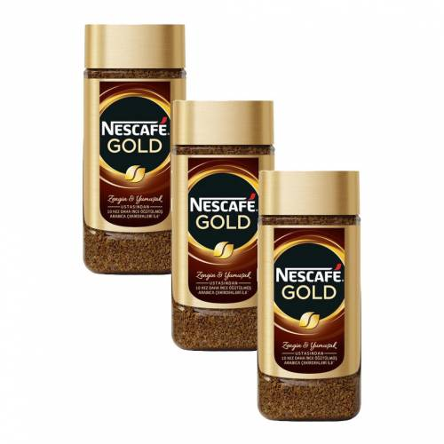3NESCAFE Gold Kavanoz 200 gr 3'lü Set