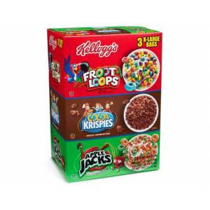 Kelloggs Classic Froot Loops-Cocoa Krispies-Apple Jack Cereal 1640g Made in USA Kargo 6 lira