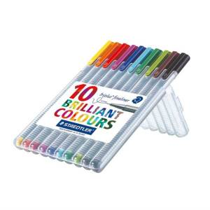 Staedtler Triplus Broadliner 0.3 mm 10'lu Brillant Colours