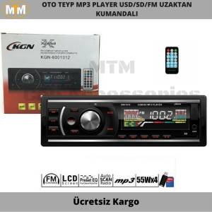 KGN Oto Teyp Mp3 Player Usd Sd Fm