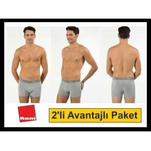 KOM TIGHT 2LI BOXER EKONOMİK PAKET