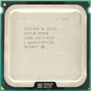 İNTEL XEON e5430 QUAD CORE İŞLEMCİ 775 pin-12M cache-2.66 ghz-1333 fsb
