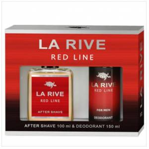 LA RIVE RED LINE TRAŞ LOSYONU AFTER SHAVE 100 ML. VE DEODORANT 150 ML. - İKİLİ SET