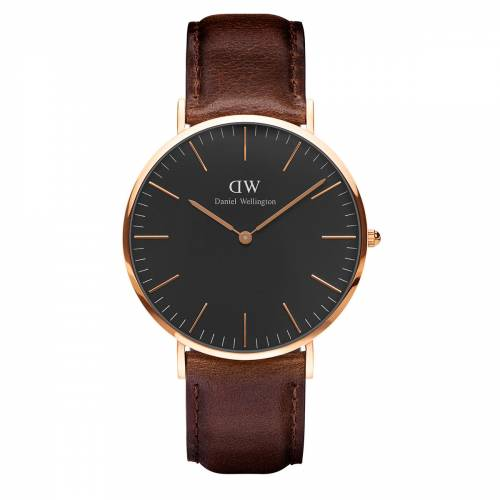 Daniel Wellington Men Classic Black Bristol Rose Gold 40Mm 417871215