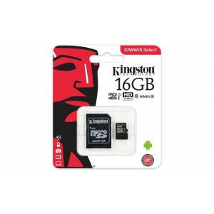Kingston  Canvas Select 16GB Micro SD Hafıza Kartı Class10 U1 80MBs SDCS16GB
