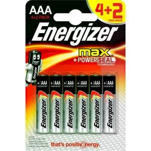 Energizer Alkaline Max Power Seal 42 AAA İnce Pil
