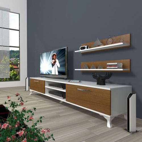 DECORAKTİV EKO 4 MDF DVD RUSTİK TV ÜNİTESİ TV UNİTESİ 2 RAF 8682109200639 418800832