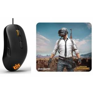 SteelSeries Rival 105 Gaming Mouse amp SteelSeries QcK XL PUBG Miramar Edition Mouse Pad