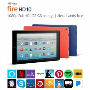 Amazon Kindle Fire HD 10 Tablet with Alexa Hands-Free 10.1 1080p Full HD Display 32 GB
