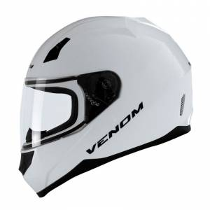 VENOM VF-391 SOLID WHITE - FULL FACE MOTOSİKLET KASKI