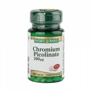 Natures Bounty Chromium Picolinate 200mcg 100 Tablet