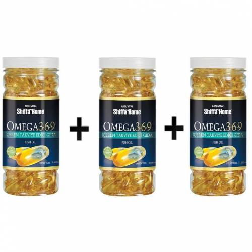 3 Adet Aksu Vital Shiffa Home Omega 3-6-9 100 Softgel x 1000 mg 422498820