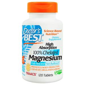 Doctors Best Magnesium Magnezyum High Absorption 100 Chelated 120 Tablet zihin zeka hafıza enerji