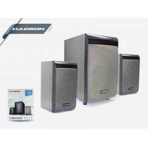 HADRON HD73024 SPEAKER 2.1 SES SİSTEMİ Wireless Bluetooth USB SD CART GİRİŞLİ FM RADİO ÖZELİKLİ