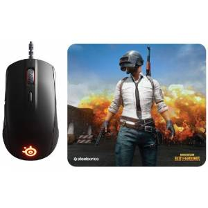 SteelSeries Rival 110 Oyuncu Mouse ve QcK XL Pubg Erangel Edition Mouse Pad