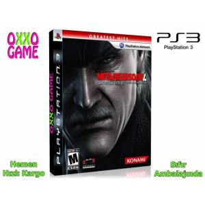 PS3 Metal Gear Solid 4 Guns of the Patriots - Sıfır Jelatinli