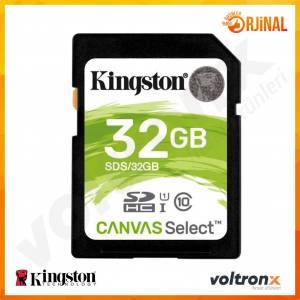 Kingston Canvas Select 32GB SDHC 80MB/s Class 10 UHS-I Hafıza Kartı SDS/32GB