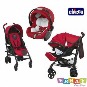 Chicco lite way plus travel set baston bebek arabası red