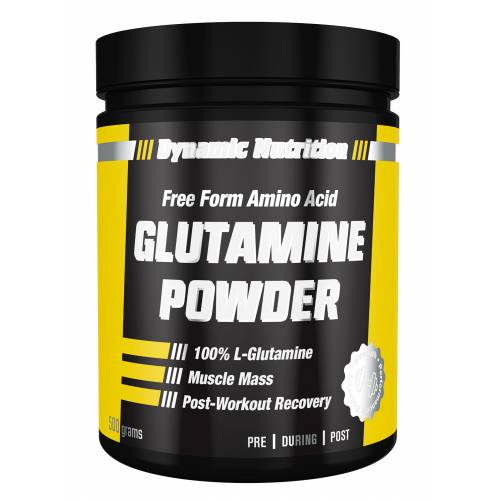 DYNAMIC L-Glutamine Powder 500 gr L-Glutamin + BOL HEDİYE