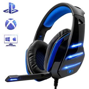 Gaming Headset for PS4 Xbox One PC Beexcellent Noise Reduction Crystal Clarity 3.5 mm Professional